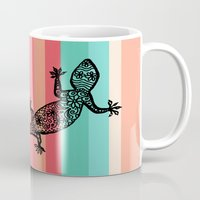 southwest Mugs featuring Southwest Gecko by Lisa Argyropoulos