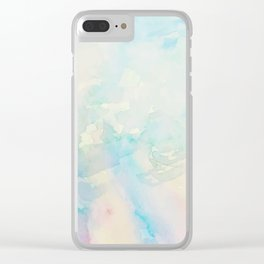 Watercolor abstract many colors  no.08 Clear iPhone Case