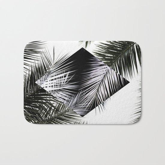 Palm Leaves 3 Geometry Bath Mat