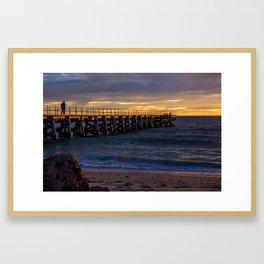 Sunset jetty Framed Art Print