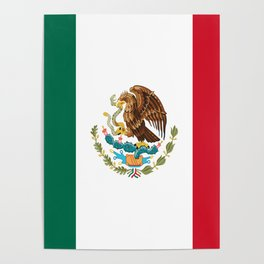 mexican sports fan mexico flag Poster