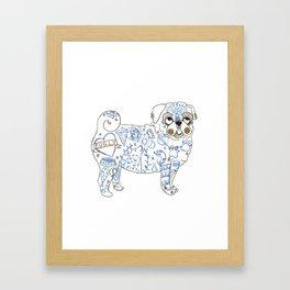 Pug Rock Framed Art Print