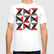 Black diamonds & red triangles Mens Fitted Tee White MEDIUM