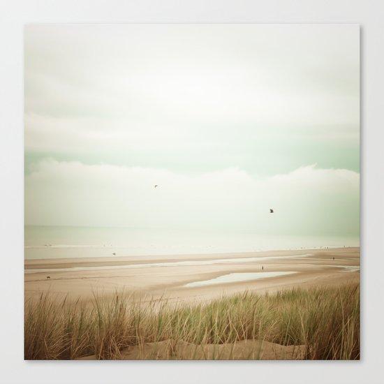 Beach Sea Sky Canvas Print