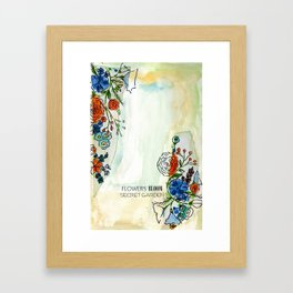 Flowers bloom Secret Garden Framed Art Print