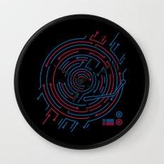Neon DJ Wall Clock