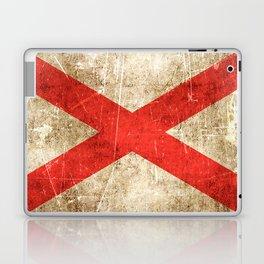 Vintage Aged and Scratched Alabama Flag Laptop & iPad Skin