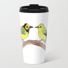 bird Hooded Warbler  Travel Mug