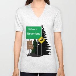 Neverland signs Unisex V-Neck