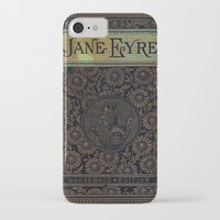 jane eyre iPhone & iPod Cases featuring Jane Eyre by Charlotte Bronte, Vintage Book Cover by ForgottenCotton