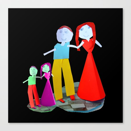 Dance me to the end of love   Kids Painting by Elisavet Canvas Print
