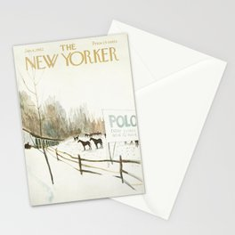 """Cover of """" The new Yorker"""" magazine. Jan.27 1968. Stationery Cards"""