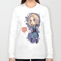 river song Long Sleeve T-shirts featuring Chibi River Song   by Midnight Tardis