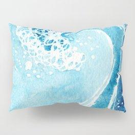 Watercolor Ocean Blue Wave Pillow Sham