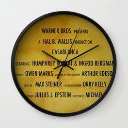 Casablanca cast & crew Wall Clock