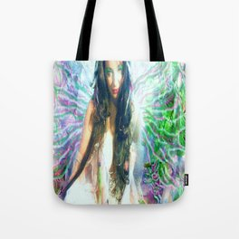 HOT SEXY FAIRY WITH PINK  WINGS NUDE BIG BREAST LADYKASHMIR ART  Tote Bag