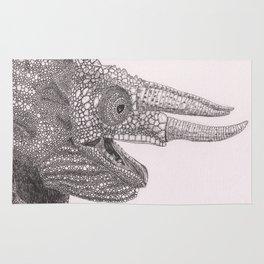 Happy Chameleon (pen and ink) Rug