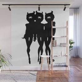 ghouls just wanna have fun b&w by gustabo Wall Mural