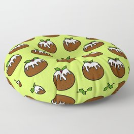 Christmas Pudding Pattern Floor Pillow