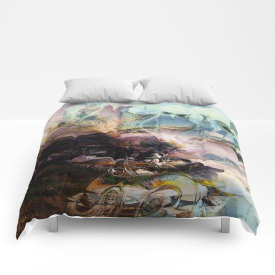 Morning Seashore Abstract Comforters