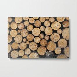 Wood Texture Metal Print