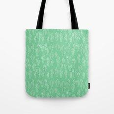 Mint Green Cactus Pattern Tote Bag