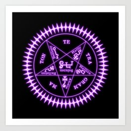 Sebastian Michaelis Sigil Light (black bg) Art Print