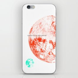 White-I believe because it is absurd iPhone Skin