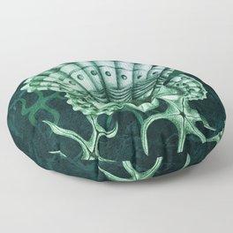 Dystopian Cockle - Lambent Green Floor Pillow