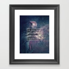 What Life Is All About - Doctor Who Framed Art Print