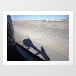 Shadow landing Art Print
