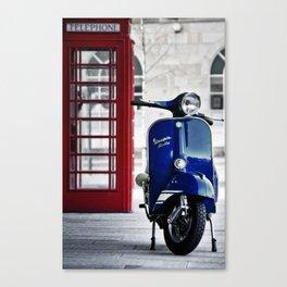 Classic Blue Vespa Canvas Print