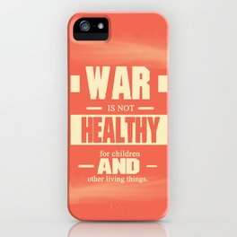 Motivating Quote For Children & Living things iPhone Case