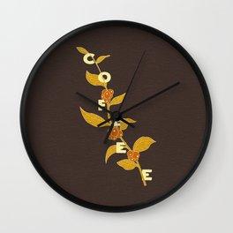 Coffee Branch Wall Clock