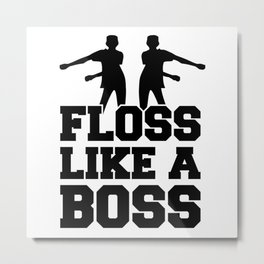 Floss Dance Black Boss Metal Print