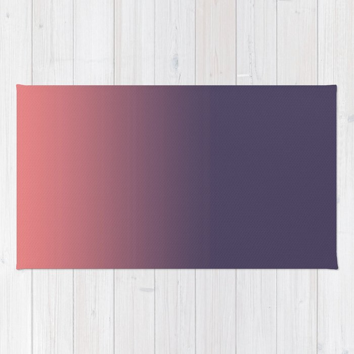 Purple to Coral Rug