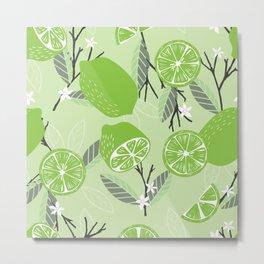 Lime pattern 02 Metal Print
