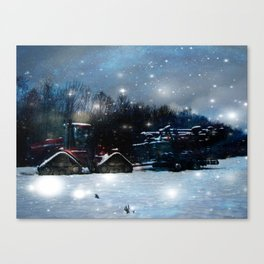 Oh starry tractor! Canvas Print
