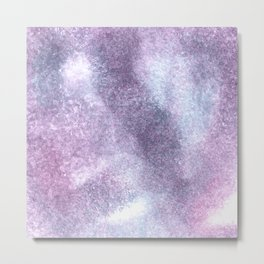Purple Blue Abstract Watercolor Painting For Her Metal Print