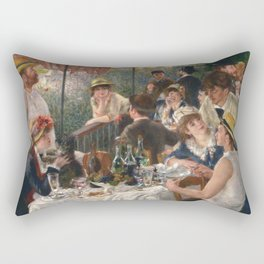 Luncheon of the Boating Party Painting, Pierre-Auguste Renoir Rectangular Pillow