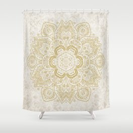 Mandala Temptation in Golden Yellow Shower Curtain