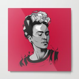 Frida Kahlo - Trinchera Creativa Metal Print