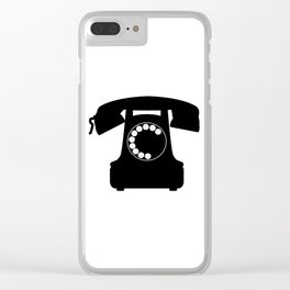 Traditional Telephone Icon Clear iPhone Case