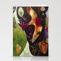 """flora bowley Stationery Cards featuring """"Deep Peace"""" Original Painting by Flora Bowley by Flora Bowley"""