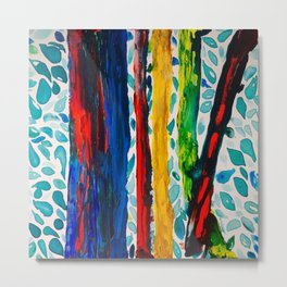 Rainbow Eucalyptus Graffiti Artist Tree naturally shedding bark from the South Pacific Metal Print