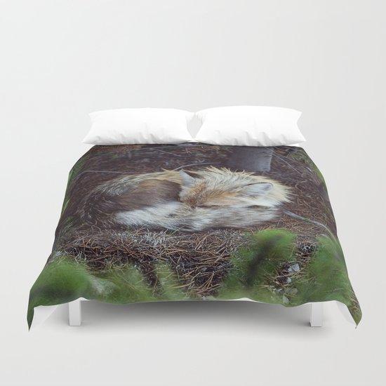 Sleeping Fox Duvet Cover
