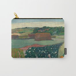 Haystacks in Brittany Oil Painting by Paul Gauguin Carry-All Pouch
