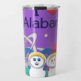 Ernest and Coraline | I love Alabama Travel Mug