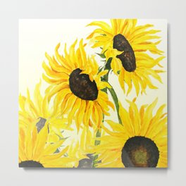 sunflower watercolor 2017 Metal Print