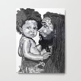 Man and Child Metal Print